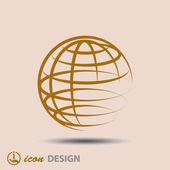 Globus symbol — Stockvektor