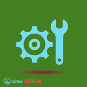 Gear and wrench icon — Stock vektor