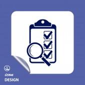 Checklist icon — Stockvektor