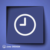 Clock icon — Stock Vector