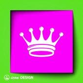 Ikona korony — Wektor stockowy