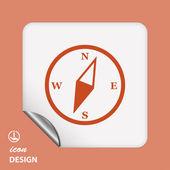 Ikona kompasu — Stock vektor