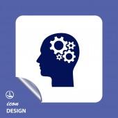 Vistuig in hoofd pictogram — Stockvector