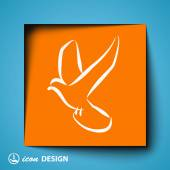 Bird icon — Stock Vector