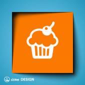 Pictograph van cake — Stockvector