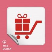 Geschenk pictogram — Stockvector