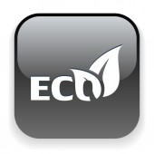 Icône eco — Vecteur