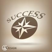 Pictograph of success — Vector de stock