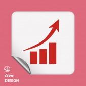 Graph icon — Stock Vector
