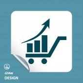 Ikona wykresu — Wektor stockowy