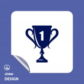 Champions cup icon — Stock Vector