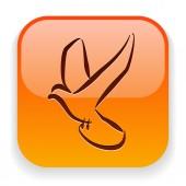 Icona di uccello — Vettoriale Stock