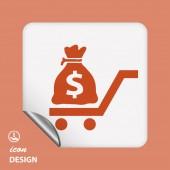 Peníze ikona — Stock vektor