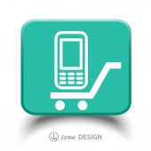 Mobile phone icon — Stock Vector