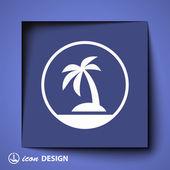 Ikona z ostrova — Stock vektor