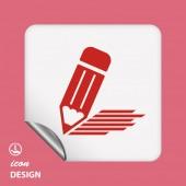 Note icon — Stock Vector