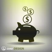 Moneybox icon — Vector de stock