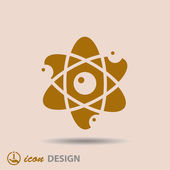 Pictograph of atom — Stock Vector