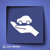 Car in hand icon — Wektor stockowy