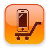 ícone do telefone móvel — Vetor de Stock