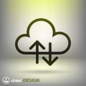 Cloud icon — Vecteur
