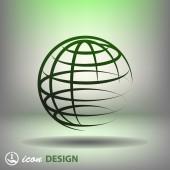 Globe icon — ストックベクタ