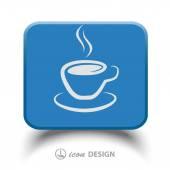 Koffie beker pictogram — Stockvector