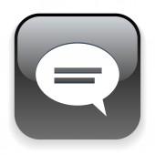 Icono de mensaje o chat — Vector de stock