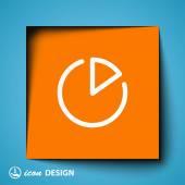 Pie chart icon — Stock Vector