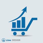 ícone de gráfico — Vetorial Stock