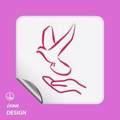 Bird icon — Stockvector