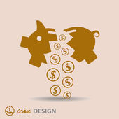 Moneybox icon — Stock Vector
