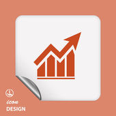 Ikona grafu — Stock vektor