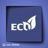 Eco icon — Stock vektor
