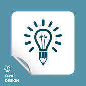 Light bulb icon — Stock Vector
