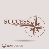 Pictograph of success — Stock Vector