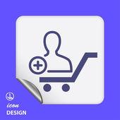 Man or contact icon — Stock Vector