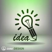 Light bulb - idee pictogram — Stockvector