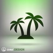 Icono de la isla — Vector de stock
