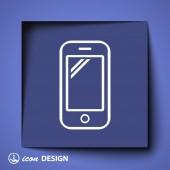 Icône de téléphone mobile — Vecteur