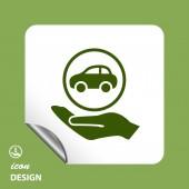 Bil i handikonen — Stockvektor