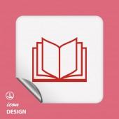 Ikona książki — Wektor stockowy