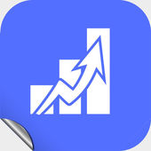 Graph icon — Stock Vector