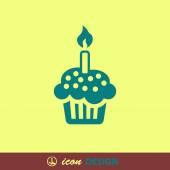 Icône de gâteau — Vecteur