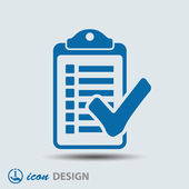 Checklist icon — Stock Vector
