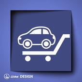 Icono coche — Vector de stock