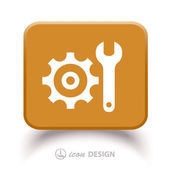 Gear and wrench icon — Stock Vector