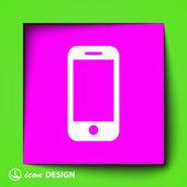 Ikona mobilu — Stock vektor