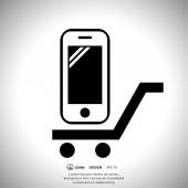 Mobile phone icon — Stock Vector