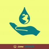 Eco icon — Stock Vector